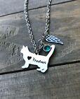 Cat Memorial necklace personalized name remembrance Kitten Pet Jewelry loss gift