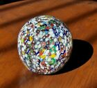 Vintage GENTILE ART GLASS PAPERWEIGHT Millefiori Canes Star City WV Marked