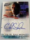2002 James Bond Die Another Day COLIN SALMON Auto Autographed Card A7 ARROW