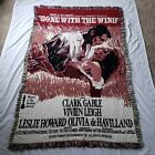 Gone With The Wind Tapestry Blanket Flaming Embrace Couch Throw Gable Leigh 1993