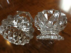 A Rare Matched Pair of Antique Flint Glass Open Master Salts