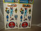 2 1979 IMPERIAL TOY CORPORATION BUCK ROGERS PUFFY STICKERS MINT ON CARD