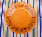 Fiestaware ~ Halloween 🎃 Pumpkin Lunch Plate ~ Retired Tangerine Fiesta Ware