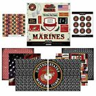 Scrapbook Customs Themed Paper and Stickers Scrapbook Kit Marine