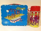 1971 THE HARLEM GLOBETROTTERS VINTAGE METAL LUNCH BOX  THERMOS SET VERY RARE