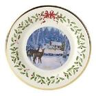 LENOX 2018 Annual HOLIDAY Collectors PLATE Deer Doe Cabin Forest NEW in BOX