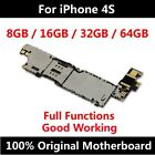 100 Original Motherboard for Apple iPhone 4S IOS Unlocked Mainboard Logic Board