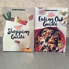 2 BIG Weight Watchers MAIN Smart Points Shopping Guide Eating Out Grocery Books