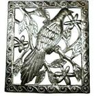 Single Bird Metal Wall Art 11 by 12 Inches Croix des Bouquets