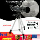 400x70mm Refractor Astronomical Telescope 16X 66X Aluminum Tripod Kids Gift USA