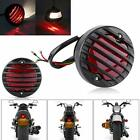 Motorcycle Round LED Grille Brake Tail Light For Harley Sportster 1200 883 Dyna