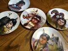 Set Of Five Native American Collector Signed Children Plates