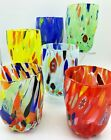 ARLECCHINO MURANO STEMLESS WINE OLD FASHIONED GLASSES SET OF 6
