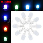 10Pcs 100Pcs WS2811 PL9823 APA106 Chipset Inside Round Hat 5mm 8mm RGB LED Chips