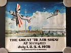 Vintage 1978 The Great 78 Air Show at Sea World Poster