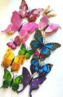 24Pcs2 Sets 3D Butterfly Wall Stickers Magnetic Decals US seller