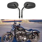 Black Motorcycle Mirrors For Harley Davidson Sportster Iron 883 Street Glide US