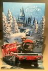 Harry Potter Hogwarts Express 3D Pop Up Christmas Card w Envelope NEW
