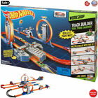 Kids Hot Wheels Racing Cars Race Track Set + 2 Motorized Booster For Boys Gift