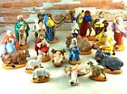 Vintage Holland Molds Ceramic Nativity Set 19 Pieces Beautifully Hand Painted