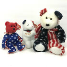 TY Beanie Baby - Lot of 3 American Blessing Spangle Liberty Toy Stuffed Animal