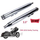 Chrome 35 Slip On Ons Mufflers Exhaust Pipes 95 2016 For Harley Touring Bagger