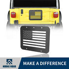 Hooke Road USA Flag Tailgate Vent Delete Plate Cover For Jeep Wrangler TJ 97 06
