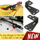 Off Road High Lift Jack Mount Hood Bracket For Jeep Wrangler CJ YJ TJ 1944 2006
