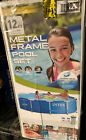 Intex 12 x 30 Metal Frame Set Above Ground Swimming Pool with Filter