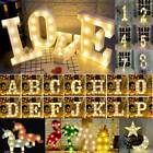 ALPHABET LETTERS LED LIGHT UP NUMBERS PLASTIC LETTERS STANDING DECOR CHRISTMAS