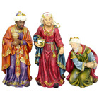 Handmade Resin 3 Piece Christmas Wise Men Figurine Nativity Set Outdoor Decor