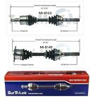 For Mitsubishi Montero 4WD 1994 2000 Pair of Front CV Axle Shafts SurTrack Set
