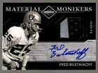 2011 Limited Fred Biletnikoff #28 Autograph Patch Material Monikers 9 Raiders