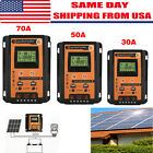 12 24V 30 50 70A MPPT Solar Charge Controller Panel Battery Regulator Dual USB