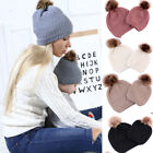 2019 Mother & Child Baby Warm Winter Knit Beanie Fur Pom Hat Crochet Ski Cap