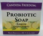 Candida Freedom Probiotic Soap Bar Skin Friendly pH Lemon Scent 4 Oz