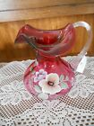 Fenton Art Glass Country Cranberry Pansy Pansies Pitcher 3095 C6