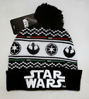 STAR WARS Rebel Alliance Galactic Empire Black White Embroidred Pom Beaine HAt