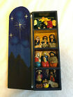 CIAP Peru Ten Thousand Villages Christmas Nativity Scene Box Handpainted