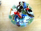 PEGGY KARR FUSED GLASS BOW BIRDS ON PINE BRANCHES 8 1 2