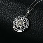 925 Sterling Silver LUNAR Moon Sun Necklace NEW USA Silver Crescent Pendant