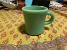 FIRE KING OVEN WARE HEAVY DUTY GREEN JADEITE RESTAURANT WARE MUG CUP