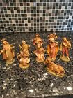 Vintage Depose Nativity Figures 9 Pieces Italy Numbered EUC