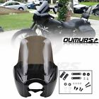 Front Upper Fairing W/ 15'' Windshield Windscreen For Harley Dyna Low Rider