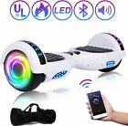 65 2 Wheels Electric Motorized Scooter Hoover Board LED bluetooth W Free Bag