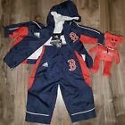 ADIDAS BOSTON Red SOX BABY SIZE 3-6 MONTHS TRACK SUIT & TY BEANIE BEAR