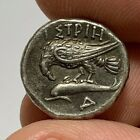 ANCIENT GREEK SILVER DRACHM COIN ISTROS EAGLE 39gr 179mm 4th CENT BC