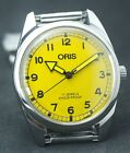 Men's Pre-Owned Yellow Dial 17 Jewels FHF ST-96