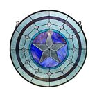 Texas Star Stained Glass Hanging Window Panel Home Decor Suncatcher 24D