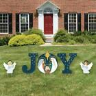 Outdoor Christmas Holy Nativity Yard Sign Decorations Xmas JOY Garden Stakes